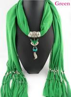 Wholesale Price 2 pc/lot  Scarves new Japanese Korean sweet lady style fringed scarves billed fox pendant jewelry scarf