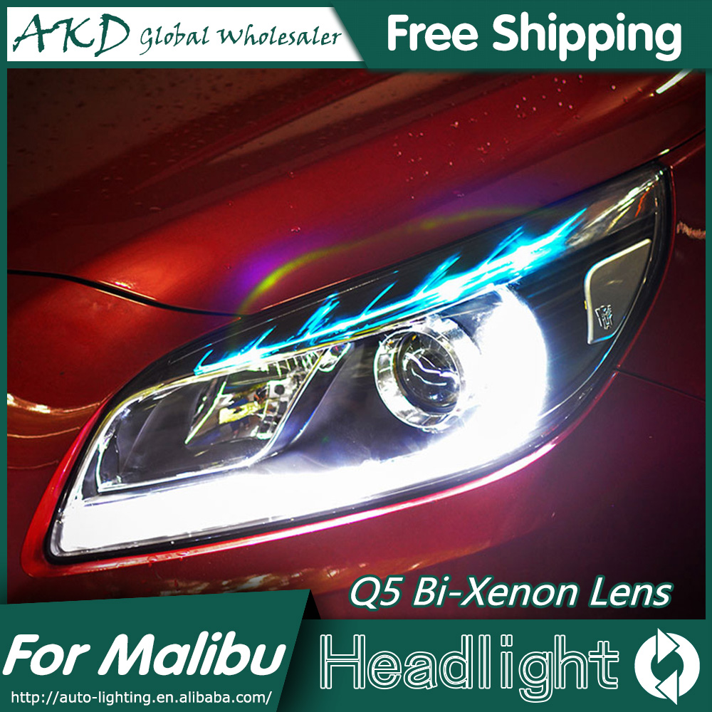 Akd car styling for chevrolet malibu headlights 2012 2015 malibu led headlight drl bi xenon