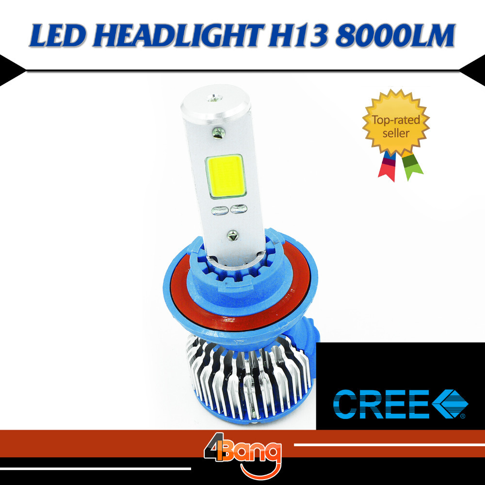 ФОТО UPGRADE!! Hi Lo Beam Lamp H13 60W/Set 8000LM COB 6000K White Fog Headlight LED Easy Install Fast Cooling long service life