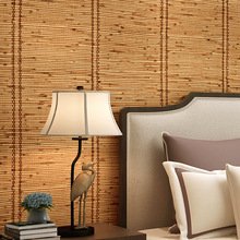 Grass weaving wallpaper Retro nostalgic 3d stereo personality fashion INS bedroom coffee restaurant clothing store