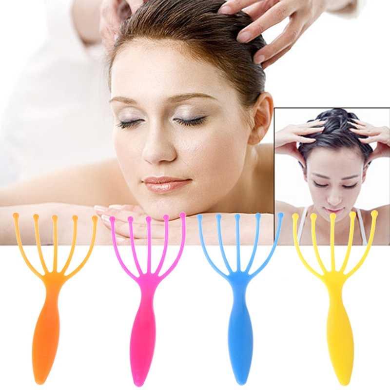 DUAI pratique cinq doigts Massage griffe tête masseur SPA cuir chevelu soins du corps gratter soins de santé Relaxation couleur aléatoire