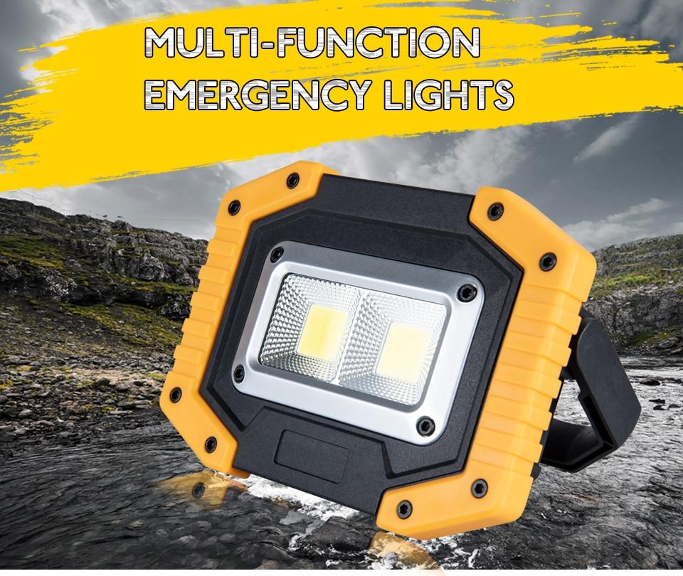 Puissant étanche DEL Handheld Spotlight rechargeable plongée sous-marine Light