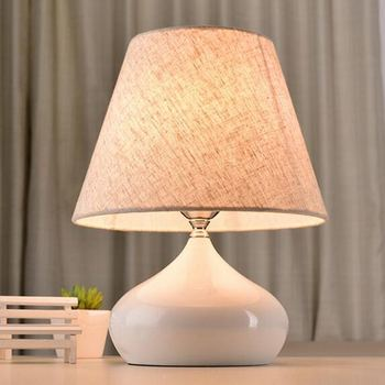 Wooden Table Lamp With Fabric Lampshade Wood Bedside Desk lights Modern Book Lamps E27 110V 220V Reading Lighting Fixture