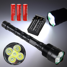 Super Bright 10000LM 5X XML T6 LED Flashlight Light Torch Hunting Light 3*18650 super bright 18 x xml t6 led aluminum waterproof flashlight torch wholesale lamp led lights support 18650 rechargeable lighting