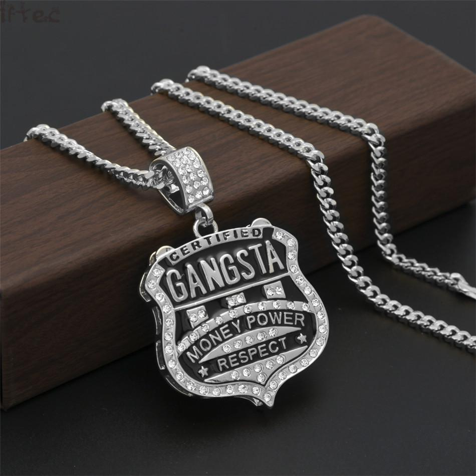 Iftec New Fashion Vintage Mens Personalized Gangsta Badge Pendant