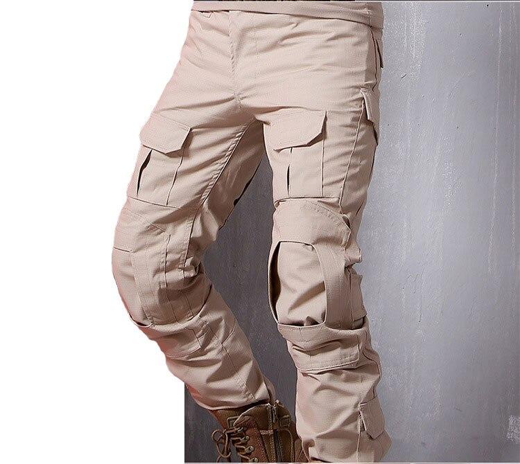 Calças táticas militares dos homens camuflagem pantalon