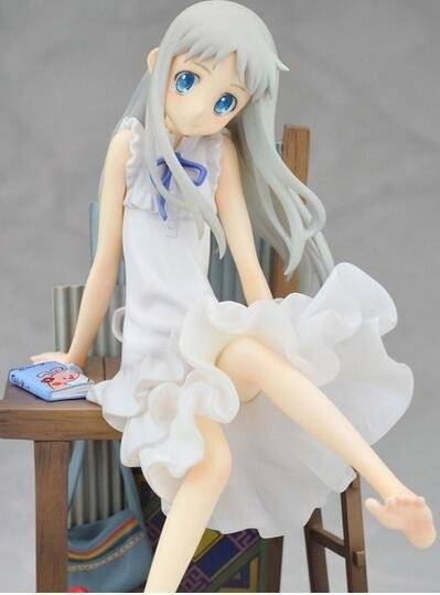 21cm Anohana Honma Meiko Menma Chair Action Figure Collection toys for christmas gift Free shipping
