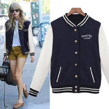 Women Baseball Jacket Casacos Femininos Preppy College Jackets
