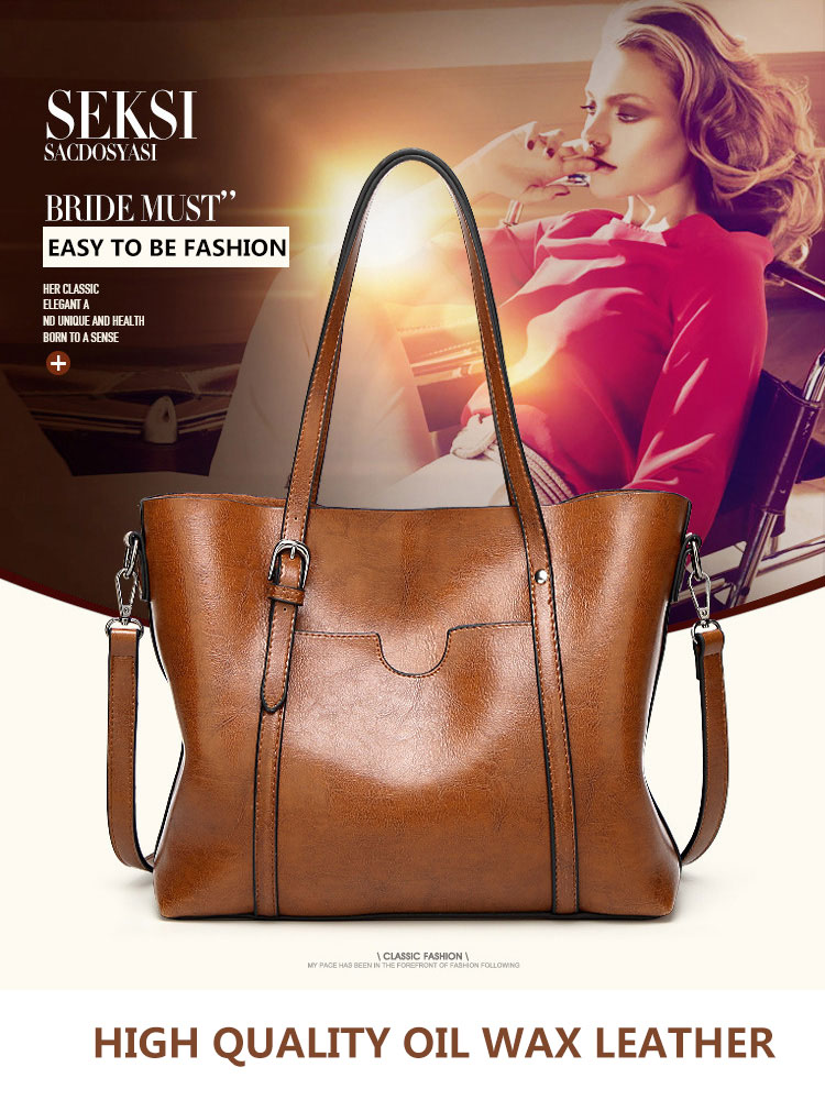 Genuine leather Women Tote handbags 12