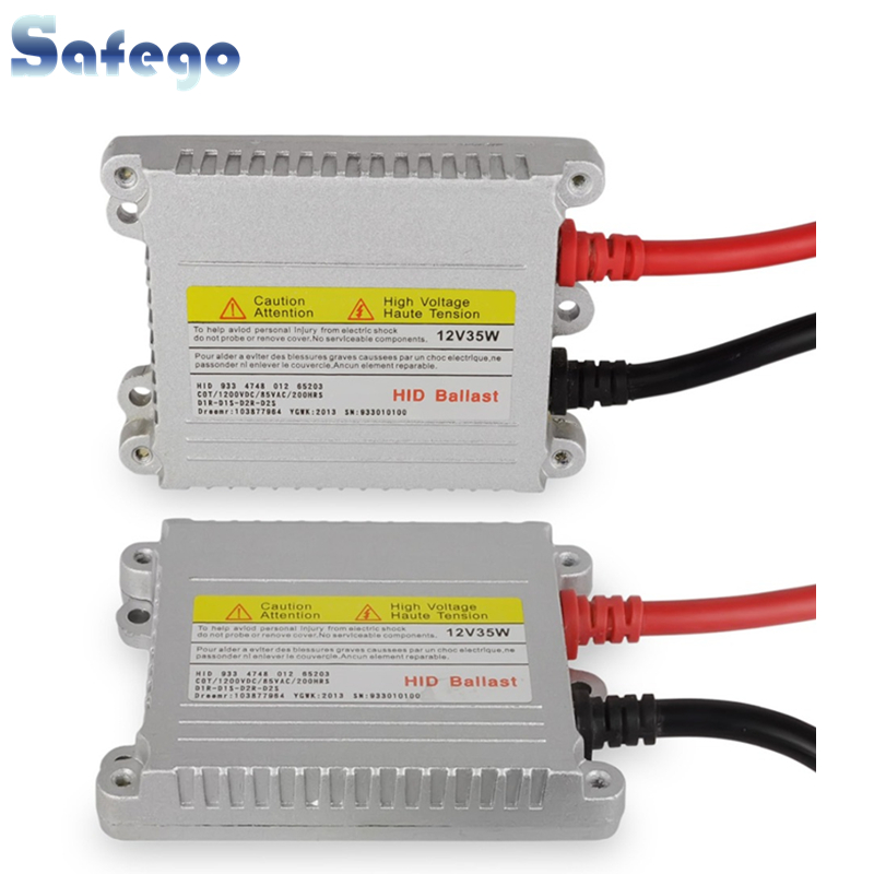 Safego 2 stks 12V xenon verborg ballast 35 W OEM Digitale elektronische verborg slank Bi Xenon ballast 35 w D2S ballast HID kit xenon H7 H4 H1