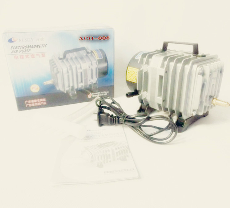 NEW Resun ACO-006 High Quality 80W 0.088m3/min  Aquarium Fish Tank Pond Electromagnetic Air Compressor Pump