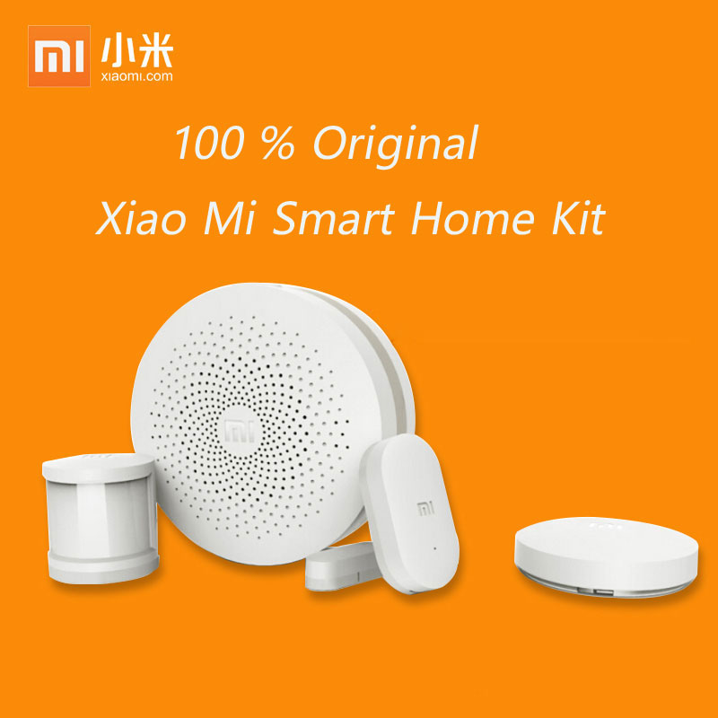 2017 Xiaomi Mi Smart Home Kit Gateway2 Door Window Sensor Human Body Sensor Wireless Switch Smart Devices Sets For Mi Smart Home new gift box original xiaomi smart home kit gateway door window sensor human body sensor wireless switch zigbee socket sets
