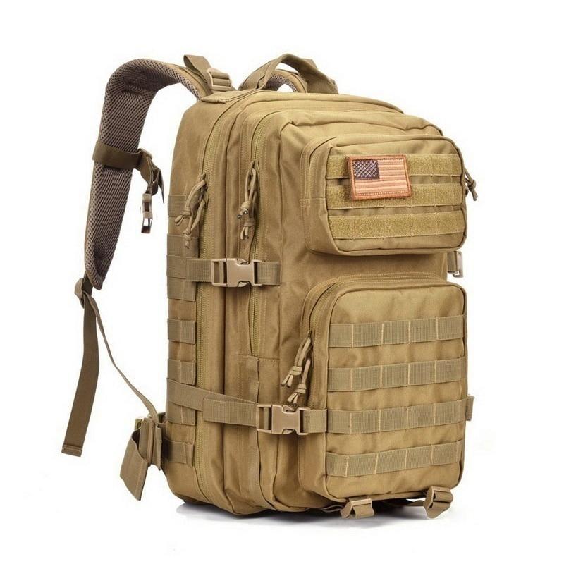 Militar tático assalto mochila 43l à prova dwaterproof água ao ar livre pacote saco do exército grande capacidade ao ar livre caminhadas mochilas de acampamento
