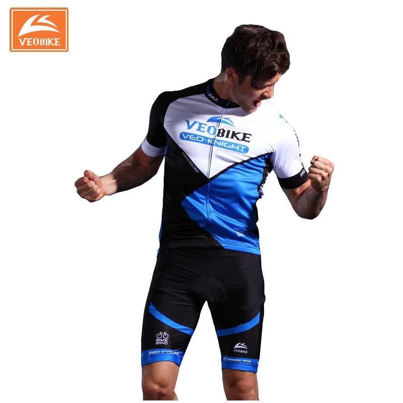 Pro Team Short Sleeve Quick-Dry Ropa Ciclismo Cycling Jersey GEL Pad Bicycle Clothing
