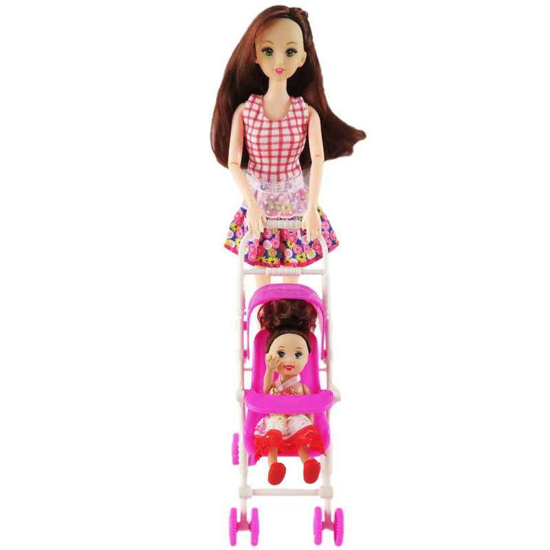 1 Set New Pink Assembly Baby Stroller Trolley Nursery ...