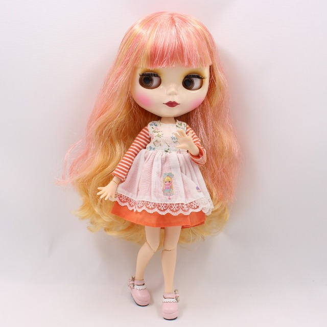 TBL Neo Blythe Doll Blonde Pink Hair Jointed Body