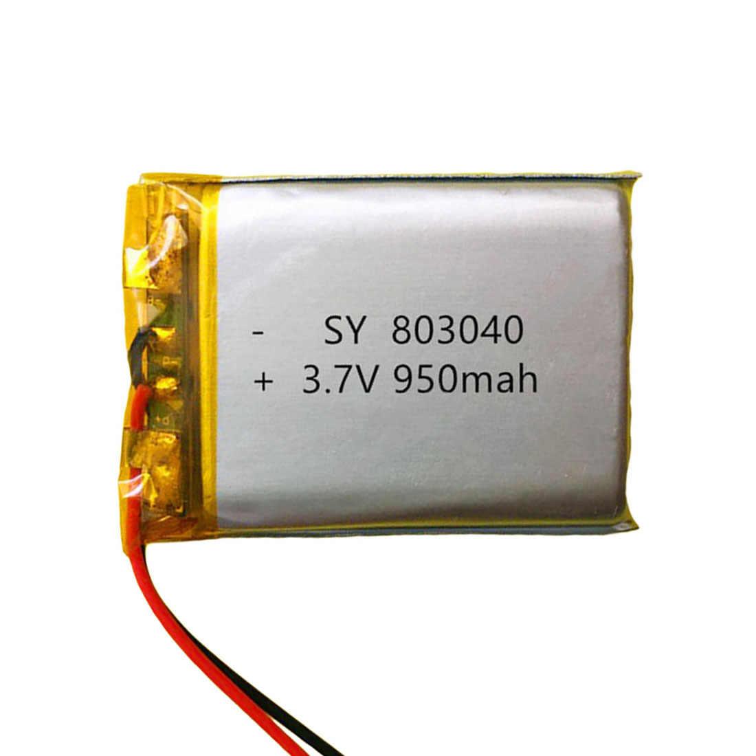 1 шт. 3,7 в 950 мАч 803040 литий-полимерный аккумулятор зарядное устройство для литий-ионный Перезаряжаемые Батарея для gps Оборудование для psp MP4 MP5 мобильный Карманный ПК электронных книг Bluetooth