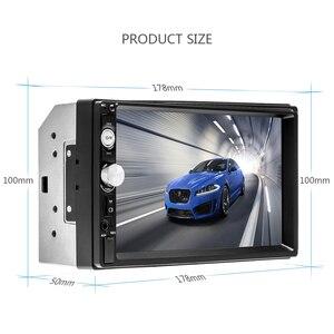 """Image 3 - Camecha 2 딘 자동차 라디오 7 """"HD 플레이어 MP5 터치 스크린 디지털 디스플레이 블루투스 멀티미디어 USB 2din Autoradio 자동차 백업 모니터"""