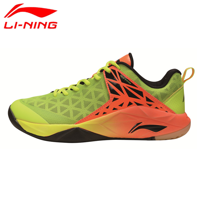 Li-Ning 2017 Newest Men's Badminton Shoes Breathable Lining Athletic Sneaker Anti-Slippery Sports Shoe Genuine AYTM071 L714OLB li ning professional badminton shoe for women cushion breathable anti slippery lining shock absorption athletic sneakers ayal024