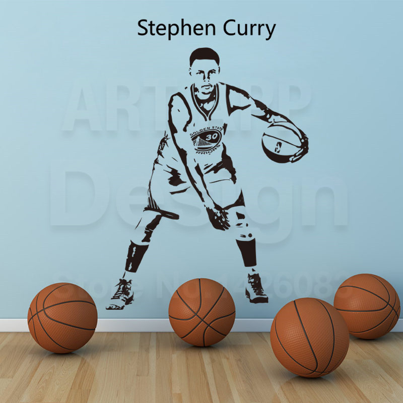 Arte nuevo diseño barato decoración baloncesto etiqueta de la pared removible ca
