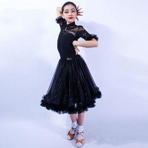 Image 2 - ガールズラテンダンスドレストップス + スカート社交ダンスドレス子供子タンゴダンス衣装ステージパフォーマンス