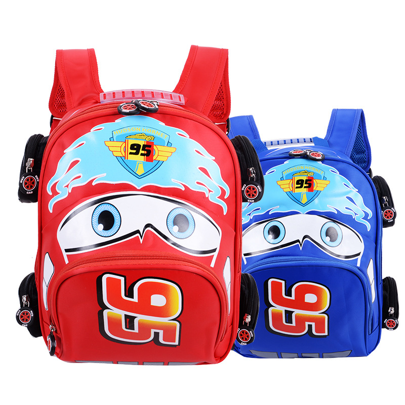 2018 New Cartoon 95 Car Boy Girl Baby Kindergarten Nursery School bag Bagpack Teenager Schoolbags Canvas Kids Student Backpacks 47