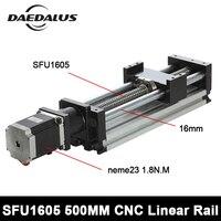 SFU1605_500mm Линейный Рельс ЧПУ мини линейный система привода Модуль стол мм 500 мм путешествия длина ЧПУ руководство для гравировки X Y Z Axies