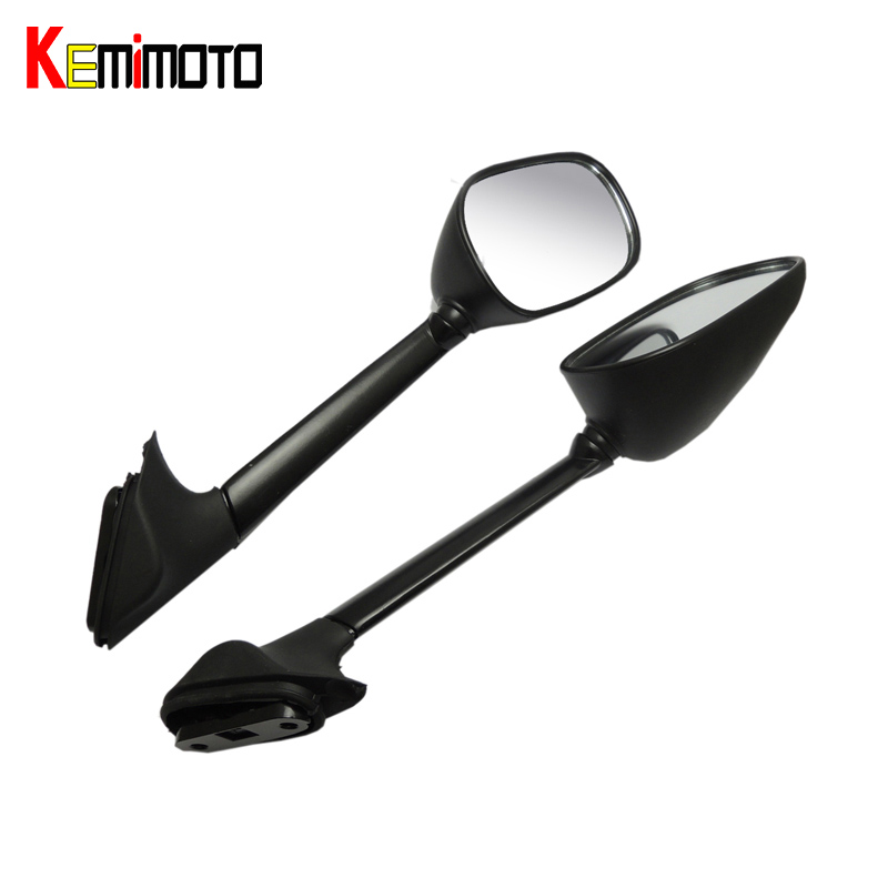 KEMiMOTO Rearview Side Mirrors for Yamaha T-MAX 500 XP 500 2008 2009 2010 2011 T-MAX500 TMAX 500 Mirrors Long 100% New