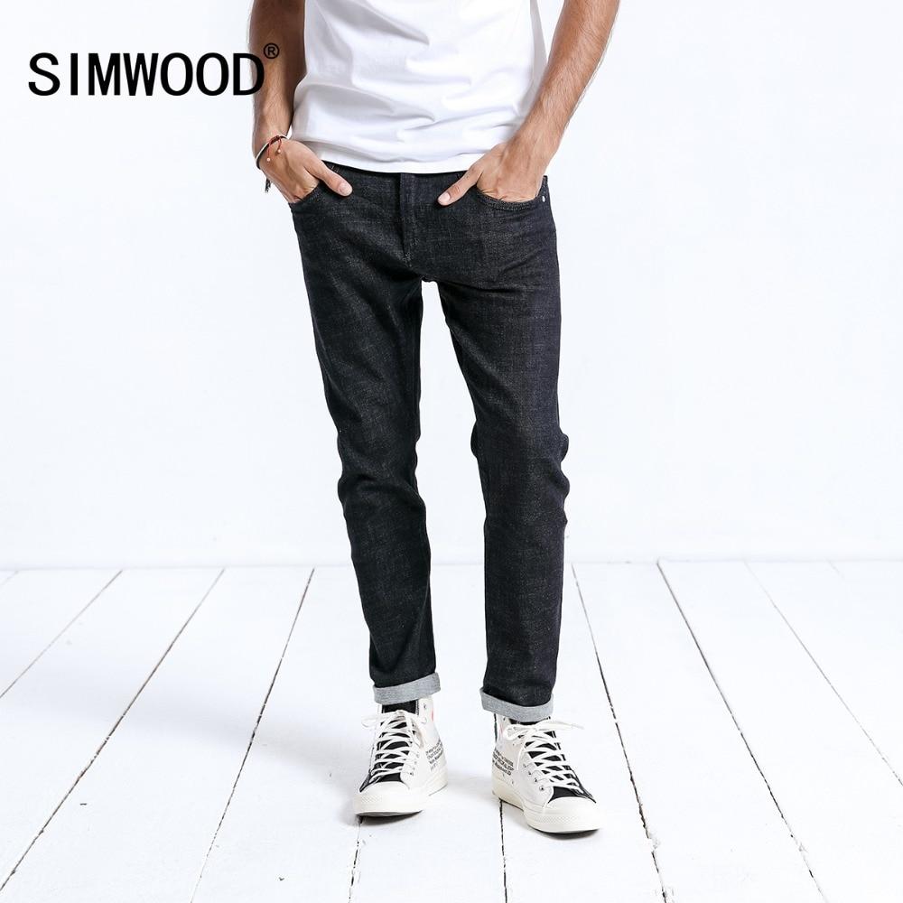 SIMWOOD брендовые джинсы Для мужчин Повседневное Лидер продаж 2019 Новое поступление узкие длинные джинсовые брюки для мужчин брюки плюс Размер...