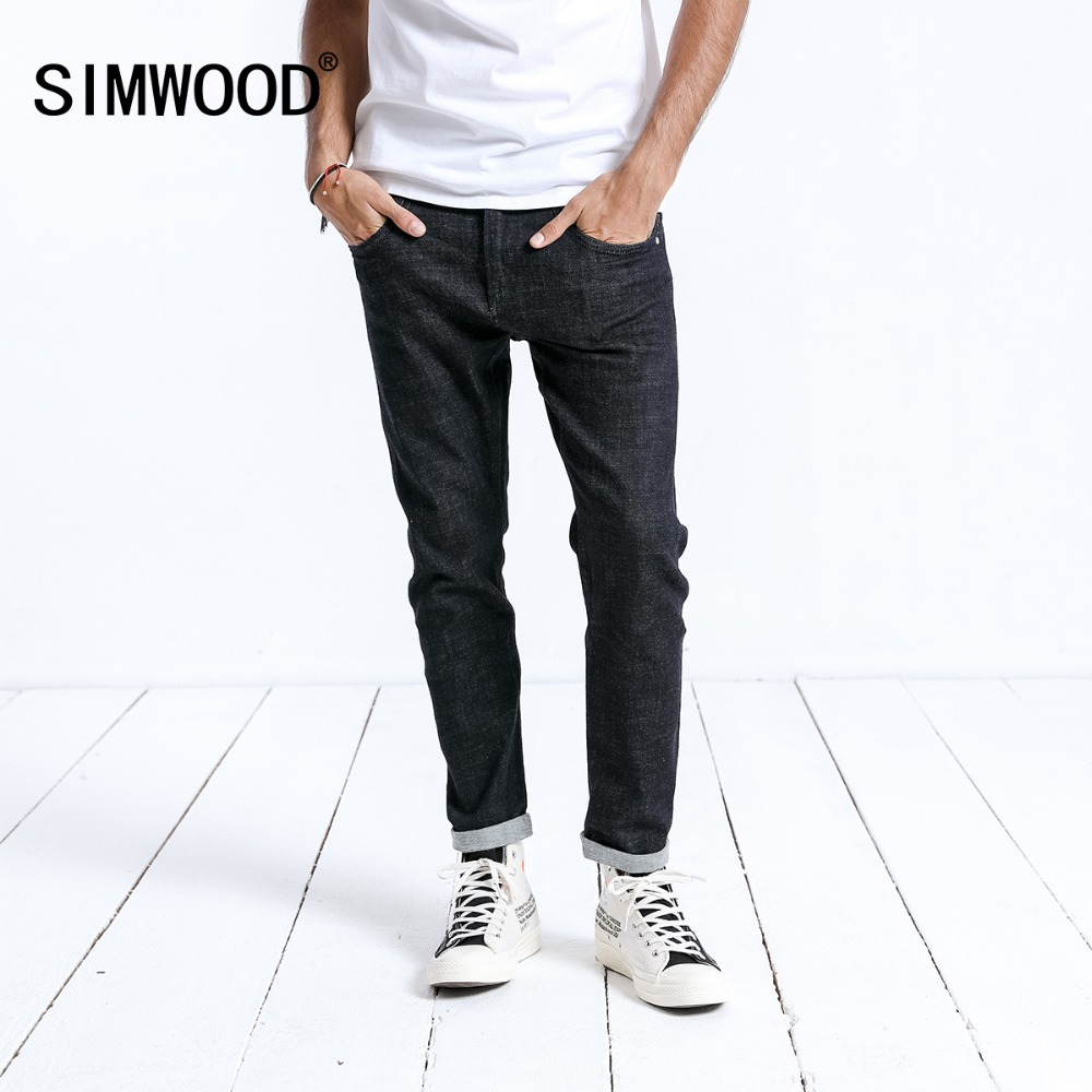SIMWOOD Brand   Jeans   Men Casual Hot Sale 2019 New Arrive Slim Denim Long Pants For Man Trousers Plus Size High Quality 180364
