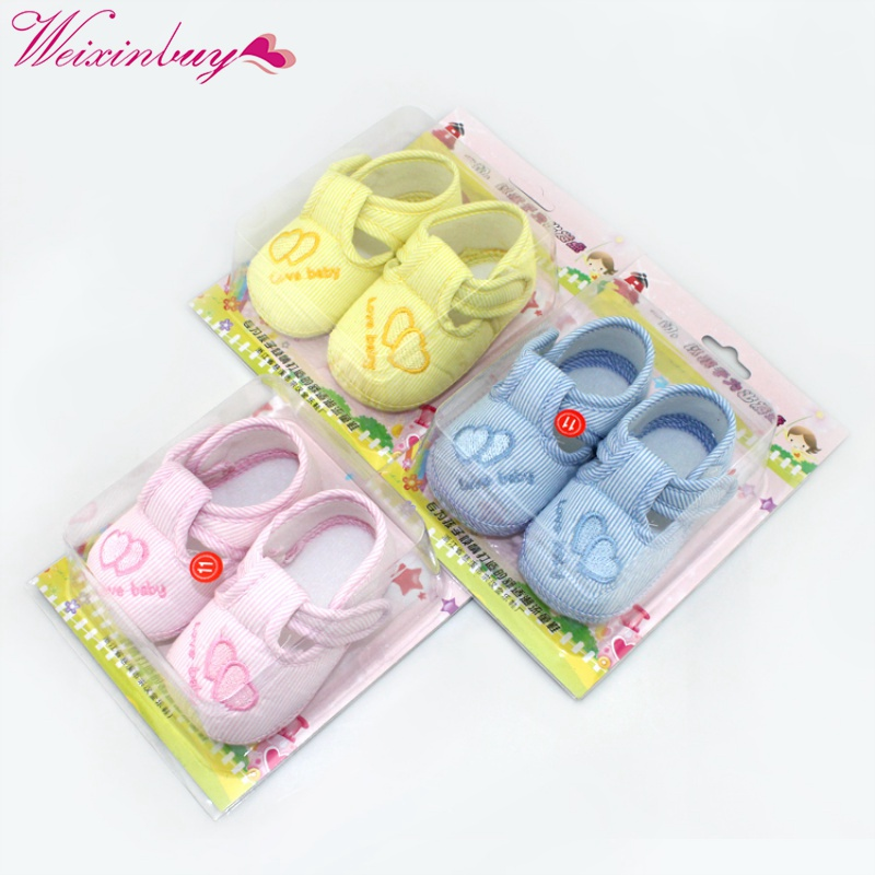 Newborn Cotton Lovely Soft Baby Boys Girls First Walkers Shoes Toddler Unisex Soft Sole Skid-proof 0-12 Months Kids Infant Shoes