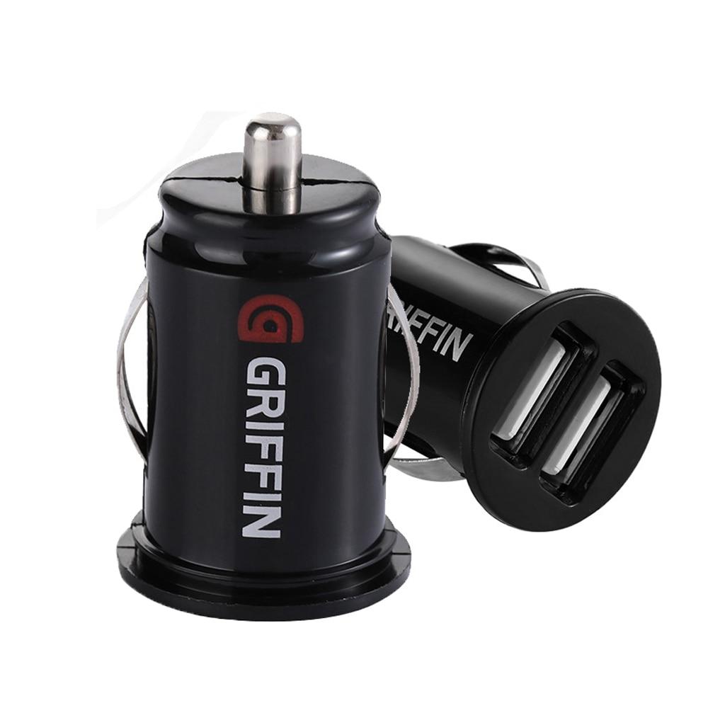 Автомобиль Грузовик двойной 2 порта USB мини автомобильное зарядное устройство адаптер для iPhone 7 Plus 6 S 5S 4s Huawei P10 Samsung Galaxy S8 S7 celular черная Автомоб...