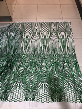 Latest Style Nigerian Tulle Mesh Lace sequins embroidered fabric SUSIA-11241 FOR WEDDING