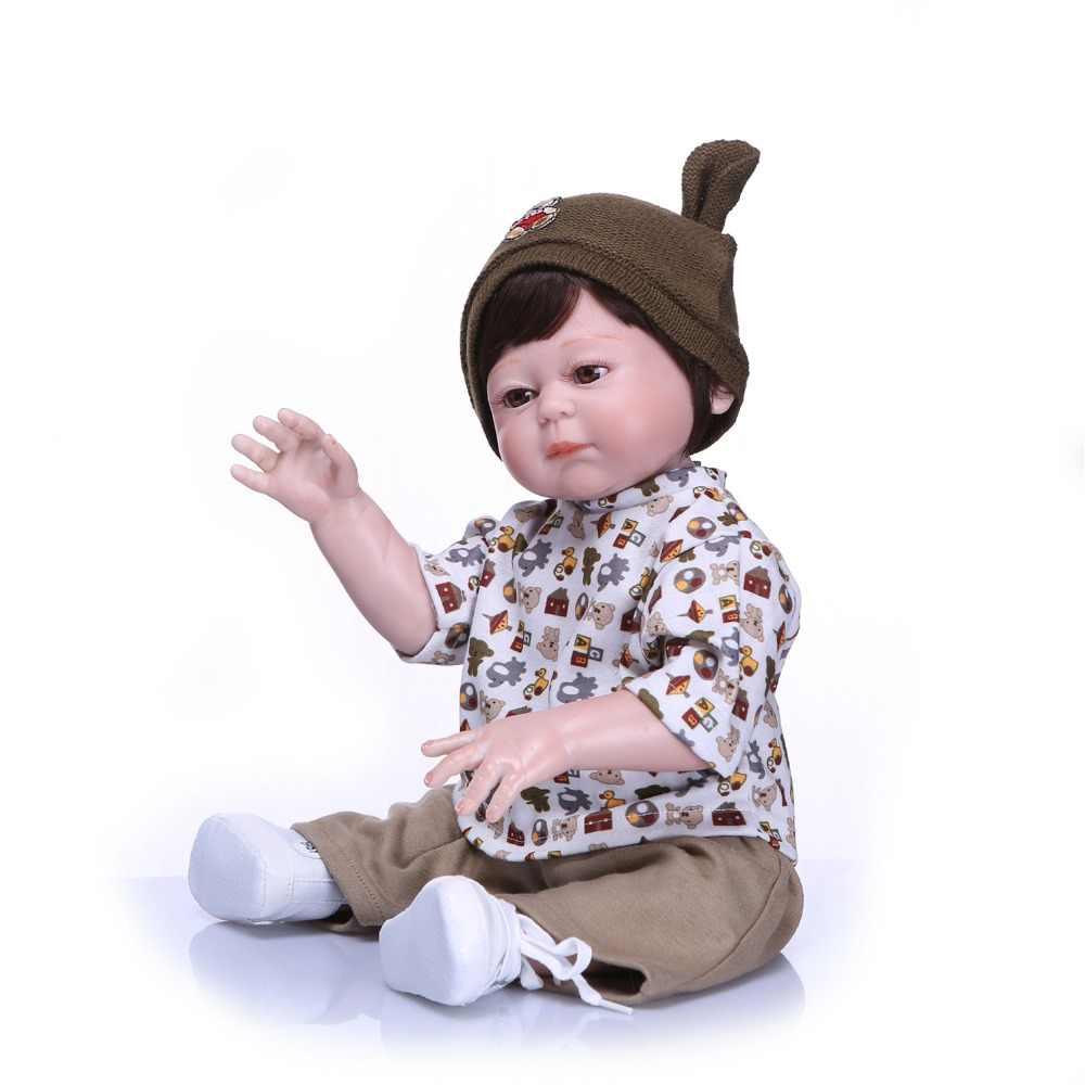 NPK Настоящее 48 см полное тело силиконовые Reborn младенцы кукла Ванна игрушка реалистичные Новорожденные Детская кукла «Принцесса» игрушка девушки подарок на день рождения и игрушки