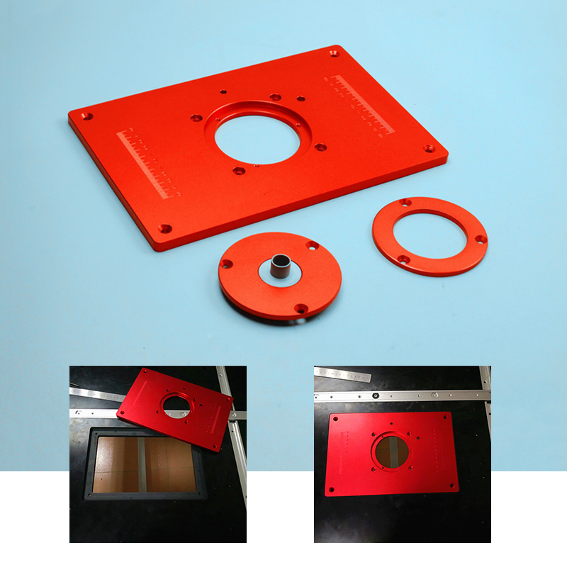 Milling Plunge Router Table Insert Plate 200 300 10MM With Cover For DIY Woodworking Work Bench