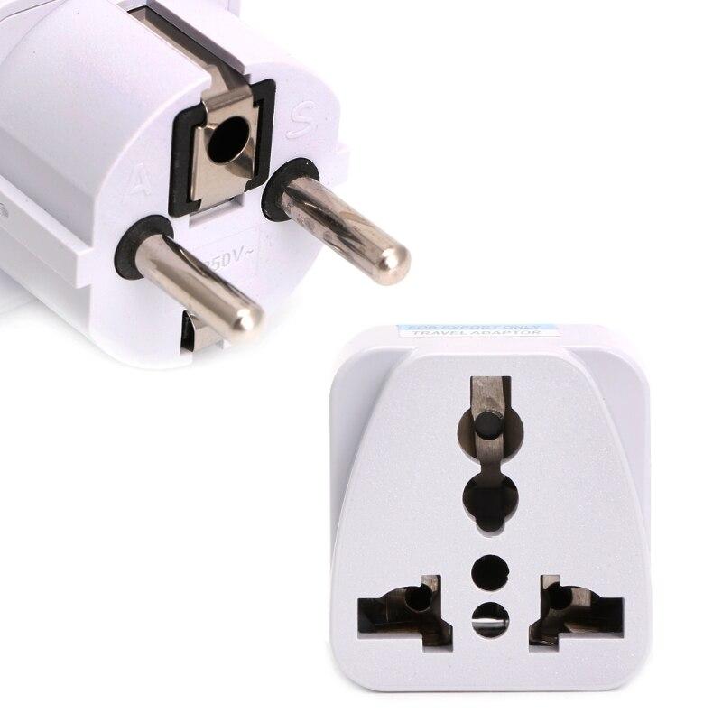OOTDTY Universal UK US AU To EU AC Power Socket Plug Travel Charger Adapter Converter