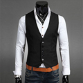 Casual Men Sleeveless Suits Business Slim Fit England Gentleman Vests Top Formal Vest Waistcoat For Men Holiday Party Clothes