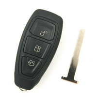 HKCYSEA 3 Button Folding Flip Remote Key 433MHZ Without Chip For FORD Mondeo With Blade