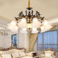 Living Room Lamp Black Bronze Chandelier Lighting Dining Study Bedroom Crystal Chandelier Modern Led Chandeliers Light