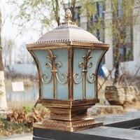 IP65 bronze antique brass landscape vintage classical outdoor waterproof fencing bollard pillar light lamp