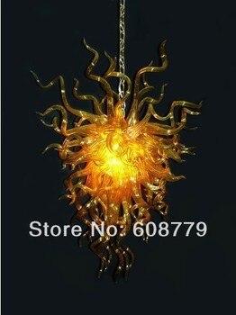 عالية الجودة درج اليد الزجاج المنفوخ الثريا العتيقة مع لمبات LED