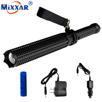 ZK30 Powerful 4500LM LED Flashlight 18650 Battery CREE XM L2 Telescopic Self Defense Police Patrol LED