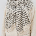 Fashion Knitted Winter Scarves For Women Mohair Cachecol Female Stripe Mujer Blanket Woman Echarpe Keep Warm Shawls Sweater J044