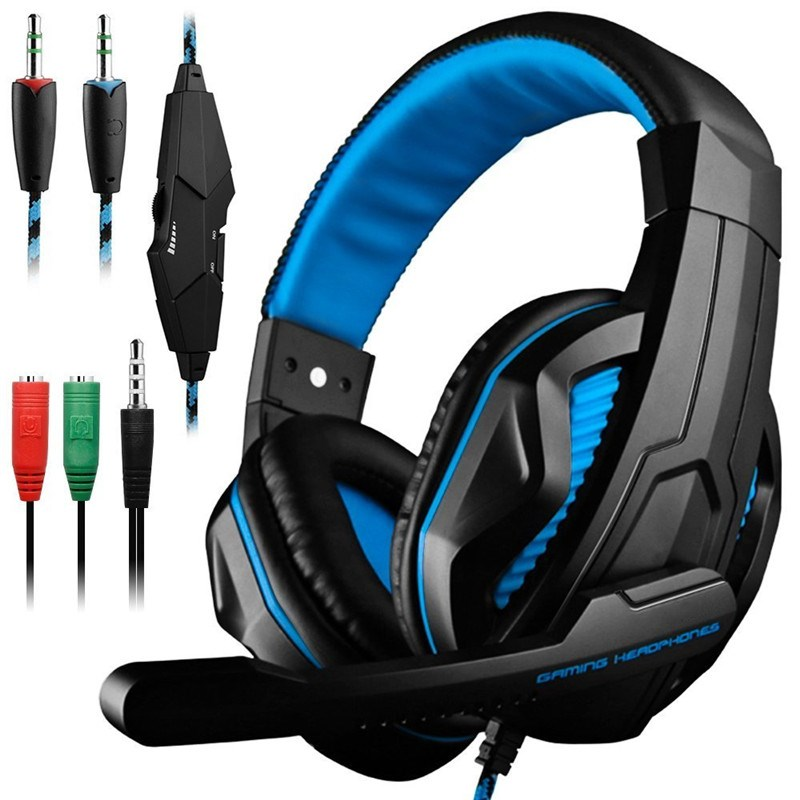 LED Lights Gaming Headset for PS4 PC Xbox one Stereo Surround Sound Noise Cancelling Wired Gamer Headphones With Mic auriculares