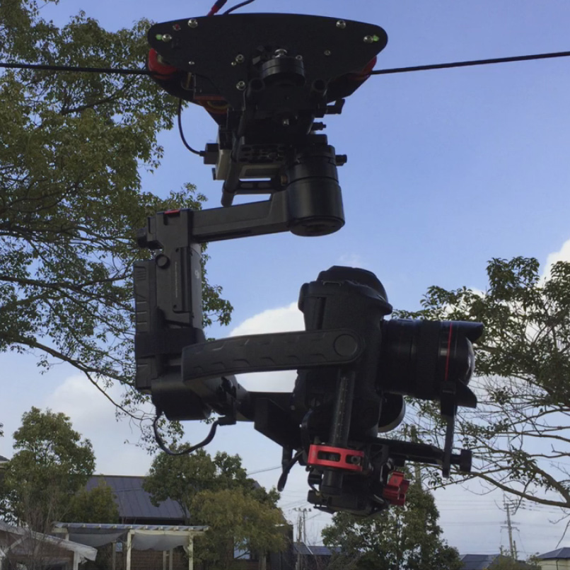 T4 high speed cablecam system for filmmaking with max 100km h speed for max 5 kg payload for RONIN S RONIN RONIN M RONIN MX in Tripod Heads from Consumer Electronics