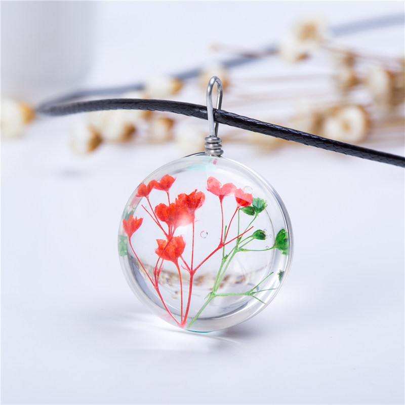 Hot fashion crystal glass ball necklace long strip