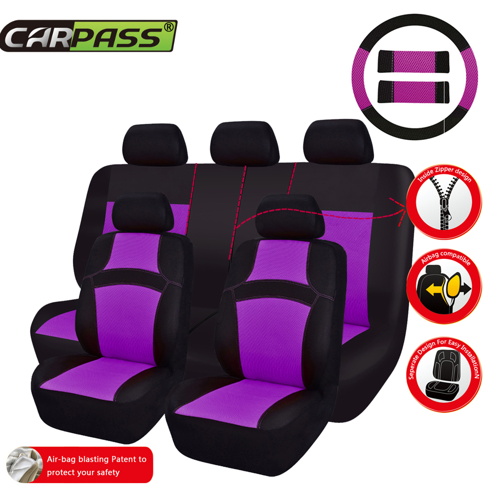 Car-pass  Auto Interior Accessories Car Seat Covers Styling Universal Car Seat Protector Seat Cushion For Toyata  lada kalina