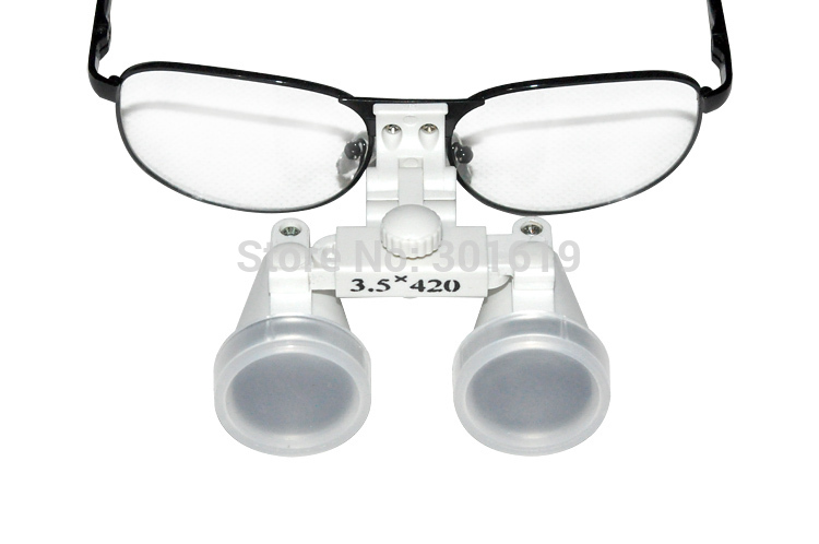 все цены на Brand New Dentist Dental Surgical Medical Binocular Loupes 3.5X 420mm Optical Glass Loupe 100% warranty