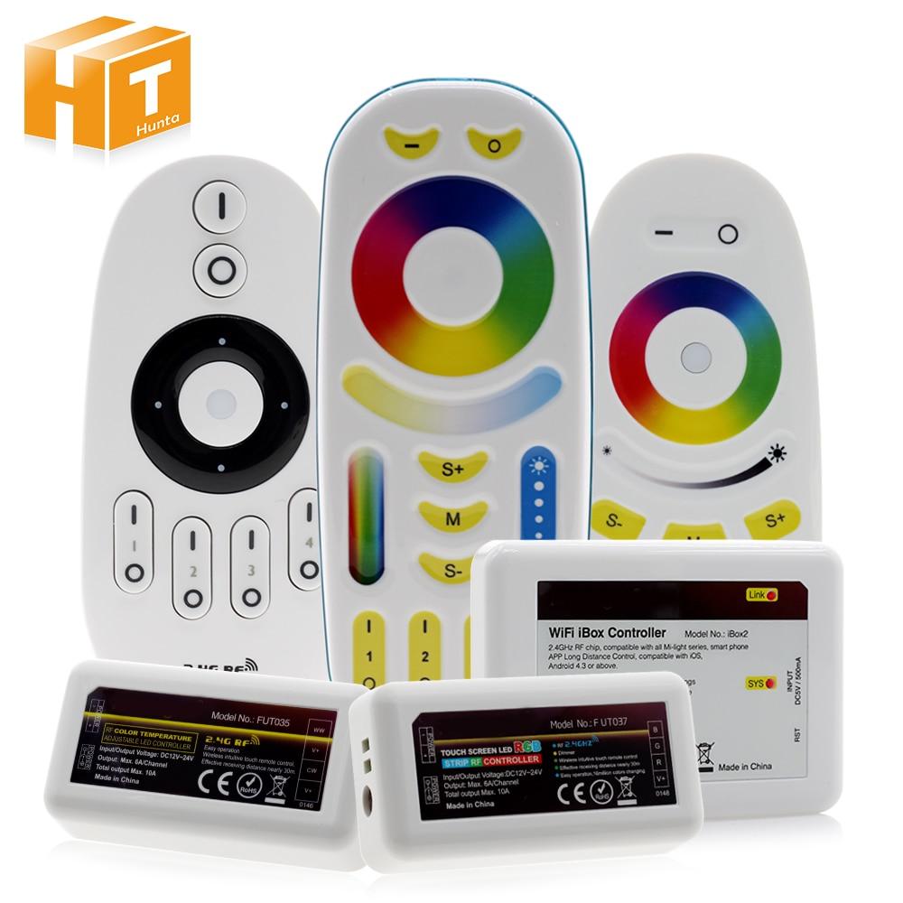 Inteligente LED Strip Controlador 2.4G RF Controle Remoto/WiFi APP Controle Para Full Color/RGBW/RGB /Dual Branco Faixa de LED.