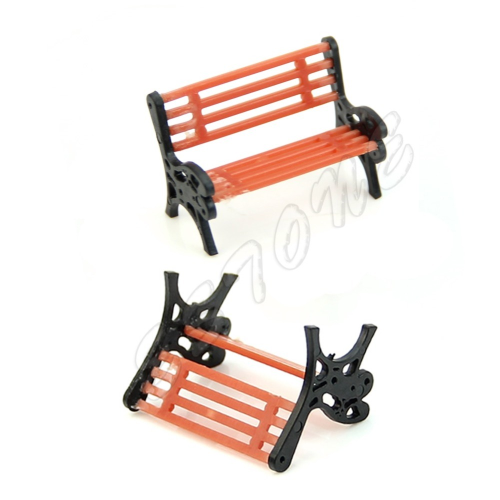 New Model Train Bench Chair Settee Garden Park Layout Scenery Railway Smaller New Drop shipping
